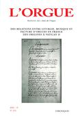 couverture de Des relations entre liturgie, musique et facture d'orgues en France des origines à Vatican II