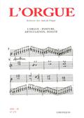 couverture de L'orgue: posture, articulation, doigté