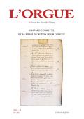 couverture de Gaspard Corrette et sa messe du 8e ton pour orgue