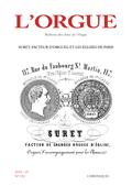 couverture de Suret, facteur d'orgues, et les églises de Paris