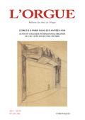 (couverture de L'Orgue à Paris dans les années 1930)