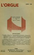 (couverture de L'orgue hydraulique d'Aquincum – André Marchal en Amérique du Nord – Introduction à la pratique du grand orgue – Les grades orgues de la cathédrale de Reims – Prospections: à Marseille)