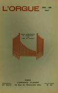 (couverture de Épisodes de la vie d'un musicien d'Alsace – Autour de Jean-François l'Épine (fin) – L'orgue de l'abbaye de Cîteaux au XVIIe siècle – Un orgue suisse: Saint-Urban, à Lucerne)