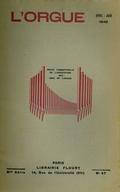(couverture de Épisodes de la vie d'un musicien d'Alsace (fin) – De l'orgue néo-classique – Le rôle de l'orgue dans les églises protestantes – L'orgue et les Jeunesses musicales de France)