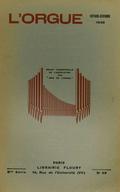 (couverture de À propos du maniement de l'orgue – Les organistes français d'aujourd'hui, I. André Fleury – L'influence des Flamands sur les Français en matière de construction d'orgues)