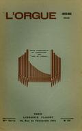 (couverture de Les organistes français d'aujourd'hui, II. Maurice Duruflé – André Marchal, mon troisième voyage aux États-Unis – Essai d'un répertoire liturgique de la musique d'orgue)