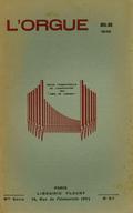 (couverture de Les organistes français d'aujourd'hui, III. Noëlie Pierront – Les grandes orgues de la basilique de Saint-Nicolas-de-Port – Essai d'un répertoire liturgique de la musique d'orgue de 1500 à 1750)
