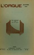 (couverture de Les organistes français d'aujourd'hui, IV. Jean Langlais – Essai d'un répertoire liturgique de la musique d'orgue de 1500 à 1750 – Le grand orgue de Saint-Gervais à Paris)