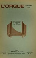 (couverture de Les organistes français d'aujourd'hui, V. Henriette Roget – Essai d'un répertoire liturgique de la musique d'orgue de 1500 à 1750 – Note sur la facture d'orgues espagnole)