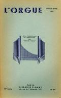 (couverture de Essai d'un répertoire liturgique de la musique d'orgue de 1500 à 1750 (fin) – Les organistes français d'aujourd'hui, E. Souberbielle – L'orgue aux Pays-Bas en 1949)
