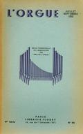 (couverture de Les organistes français d'aujourd'hui, IX. Olivier Messiaen – À propos du deuxième centenaire de la mort de J.-S. Bach (fin) – Le Congrès international de musique tenu à Lünebourg, du 12 au 21 juillet)