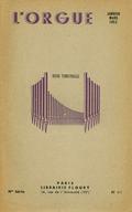 (couverture de Les organistes français d'aujourd'hui: Marcel Paponaud – Une séance d'improvisation par Marcel Dupré – Autour des orgues du Conservatoire national et de la chapelle des Tuileries (fin))