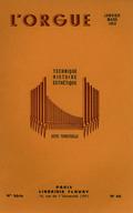(couverture de Pierre Segond, organiste de la cathédrale Saint-Pierre à Genève – Schweitzer à Gunsbach – Les orgues restaurées de l'église protestante Sainte-Aurélie, à Strasbourg)