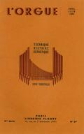 (couverture de Le concours de composition des Amis de l'orgue – Une enquête des Amis de l'orgue sur le rôle liturgique de l'organiste – Une enquête sur les orgues de salon)