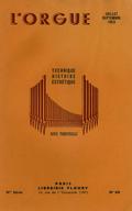 (couverture de Au banc d'orgue (I) – Michel Boulnois, organiste de Saint-Philippe-du-Roule – Le grand orgue de Notre-Dame de Paris à l'époque classique – À propos du cinquantenaire de la mort de Cavaillé-Coll)