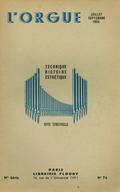 (couverture de Les d'Andrieu – Correa de Arauxo et l'orgue hispanique au début du XVIIe siècle – Les facteurs d'orgues étrangers: Harrisson et Harrisson, Durham  – Les grandes orgues de Saint-Étienne-du-Mont)