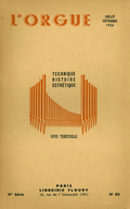 (couverture de Dom Clément Jacob, organiste de l'abbaye d'En-Calcat – L'orgue du Très-Saint-Sacrement à Lille – Les d'Andrieu (fin) – L'orgue de Saint-André de Gouffern – Les orgues de la cathédrale de Toulon)