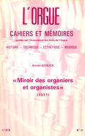 """(couverture de """"Miroir des organiers et organistes"""" (1511), Arnold Schlick)"""