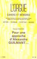 couverture de Pour une approche d'Alexandre Guilmant…
