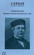 couverture de Cavaillé-Coll, premier Congrès international, Épernay, 1987. Publication des Actes du Congrès par Odile Jutten et Jean-Frédéric Lery