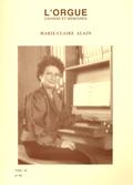 couverture de Marie-Claire Alain