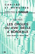couverture de Les orgues du xviiie siècle à Bordeaux