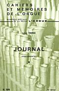 couverture de «Journal» de Louis Vierne