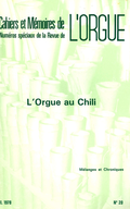 (couverture de L'orgue au Chili, par Miguel Castillo Didier et Guy Bourligueux)