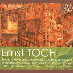 (couverture de Sinfonie für Klavier and Orchester op. 61 – Musik für Orchester une eine Baritonstimme op.60)