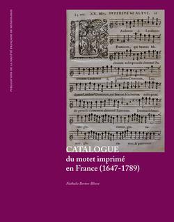 (couverture de Catalogue du motet imprimé en France (1647-1789))