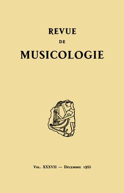 (couverture de Revue de musicologie, t. 37/2 (1955))