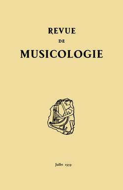 (couverture de Revue de musicologie, t. 43/1 (1959))