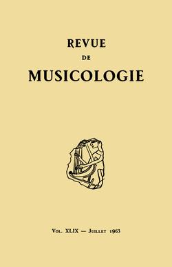 (couverture de Revue de musicologie, t. 49/1 (1963))