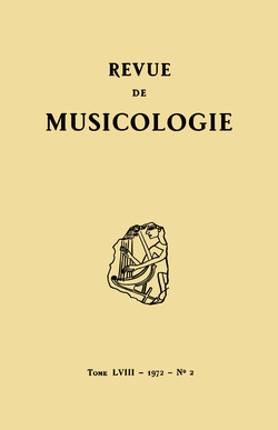 (couverture de Revue de musicologie, t. 58/2 (1972))