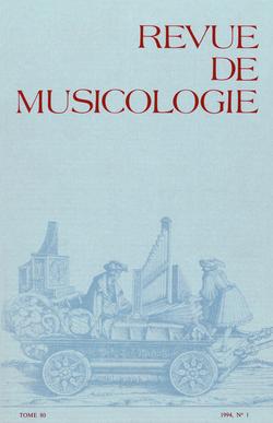 (couverture de Revue de musicologie, t. 80/1 (1994))