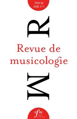 (couverture de Revue de musicologie, t. 94/1 (2008))