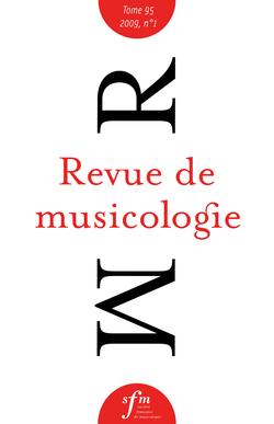 (couverture de Revue de musicologie, t. 95/1 (2009))