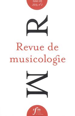 (couverture de Revue de musicologie, t. 105/2 (2019))