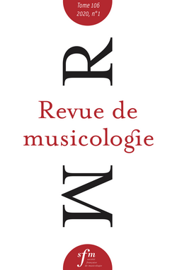 (couverture de Revue de musicologie, t. 106/1 (2020))