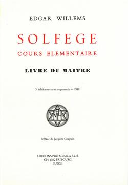 (couverture de Solfège, cours élémentaire. Livre du Maître)
