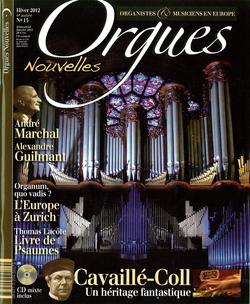 (couverture de Orgues nouvelles n° 15 (Hiver 2012))