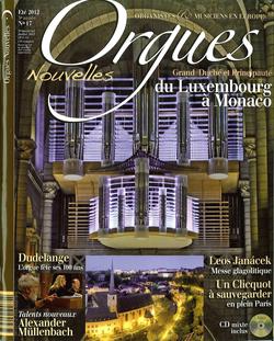 (couverture de Orgues nouvelles n° 17 (Été 2012))