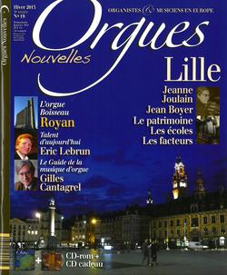 (couverture de Orgues nouvelles n° 19 (Hiver 2013))