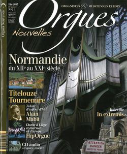 (couverture de Orgues nouvelles n° 21 (Été 2013))