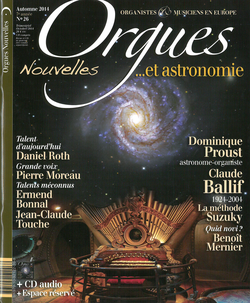 (couverture de Orgues nouvelles n° 26 (Automne 2014))