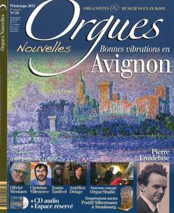 (couverture de Orgues nouvelles n° 28 (Printemps 2015))