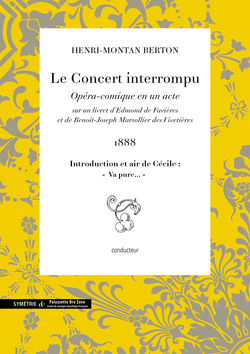 (couverture de Introduction et air de Cécile extrait du Concert interrompu)