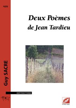 (couverture de Deux Poèmes de Jean Tardieu)
