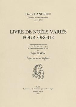 (couverture de Livre de noëls variés pour orgue)