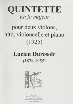 (couverture de Quintette en fa majeur pour cordes et piano)